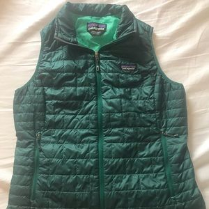 Patagonia Micro Puff Vest Size L - turquoise blue